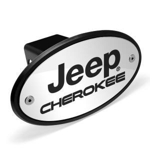 ジープチェロキークロームメタルプレート2インチトウヒッチカバー(Jeep Cherokee Chro...