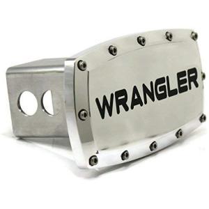 """ジープラングラー2 """"トウヒッチカバープラグ刻印ビレットアルミ(Jeep Wrangler 2"""" T..."""