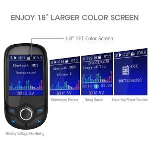 "Nulaxy Bluetooth FM Transmitter 1.8"" Color Screen ..."