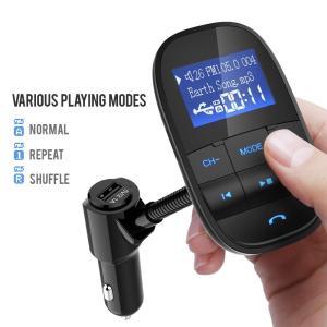 Nulaxy Bluetooth FM Transmitter Audio Adapter Rece...