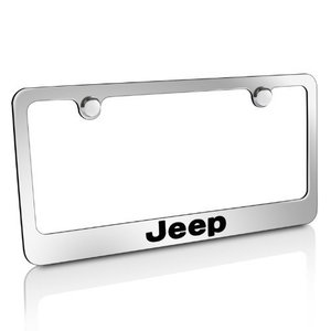 Jeep Nameplate Chrome Metal License Plate Frame(ジー...