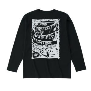 ハル・ロングスリーブTシャツ ブラック|hal-store