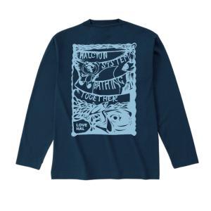 ハル・ロングスリーブTシャツ ネイビー|hal-store