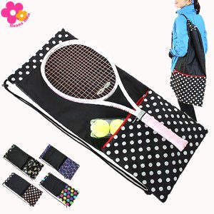 収納ポケット付テニスラケットケース ハンナフラ Hanna Hula【1点のみ配送でネコポスOK】|hal