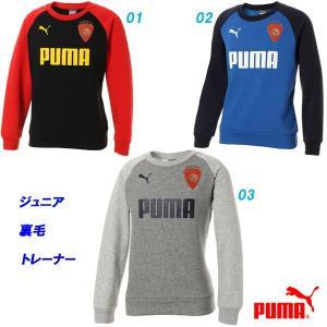 裏起毛トレーナー/プーマ(PUMA)ジュニア(754293)ラグラン袖 クルースウェット