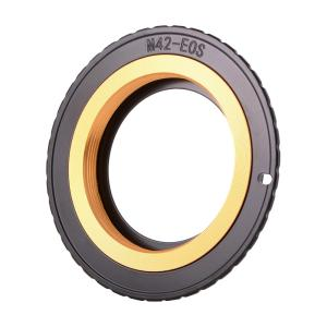 M42→Canon EOSカメラ変換 レンズアダプター EMF AF確認チップ付き アパーチャ調整可能 XCSOURCE halhal
