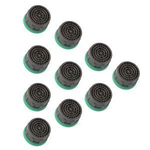 節水泡沫器 流量制限器 泡まつキャップ 1.5 GPM 6L 蛇口の交換部品 挿入エアレーター 10個 HS924 XCSOURCE|halhal