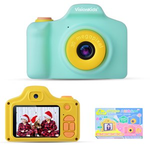 VisionKids 子供用デジタルカメラ  子供用カメラ カメラ 子供  前後3000万画素 可愛い クリスマス プレゼント 1080P録画 USB充電 日本語説明書 グーリン halhal