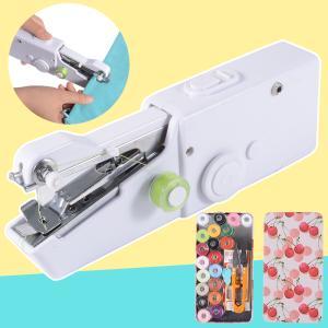 ハンディミシン コンパクト 電動ミシン 片手で縫える ハンドミシン 電池式 ほつれ 仮縫い ミシン ポータブル 小型ミシン 日本語説明書 裁縫セット付き JP207|halhal