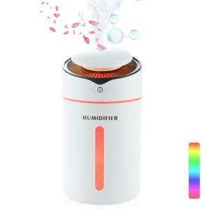 加湿器 超音波 卓上 2020最新版  小型 車載 家庭用 卓上加湿器  10時間連続加湿 USB給電 除菌 空気清浄 空焚き防止 LEDライト 静音  おしゃれ halhal