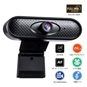 ウェブカメラ Webカメラ マイク内蔵 1080P 120°超広角 即挿即用式 パソコン ノートパソコン用 PCカメラ 高画質 顔認識補正 zoom JPH002|halhal