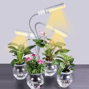 植物育成ライト LED 植物ライト 85W 室内栽培ランプ タイミング定時機能3H/9H/12H 5段階調光  3ヘッド付き 360°調節 180LEDランプ 日照不足解消|halhal