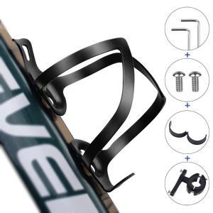 自転車 ボトルケージ バイク ドリンクホルダー アルミ合金製 ウォーターボトルケージ 自転車/ロードバイク/クロスバイク/マウンテンバイク ブラック JPL039|halhal
