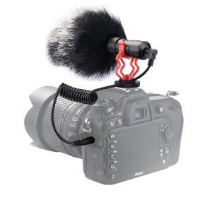 外付けマイク 超軽量ビデオマイク カメラマイク 3.5mmジャック スマホマイク ガンマイク ホットシュー 風切り音 ノイズ防止なインタビューマイク JPL049|halhal