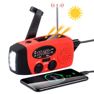 懐中電灯 ハンディライト 防災 ラジオ LEDライト ラジオ LEDランタン USB 充電  手回し充電 2000MAH 防災グッズ 地震 津波 台風 停電緊急対策 スマホ充電対応|halhal
