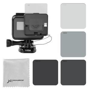 GoPro Hero5 フィルター 裸カメラ専用 ND2ND4ND8ND16スイッチ式 四枚セット XCSOURCE|halhal