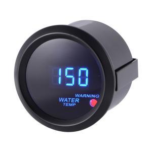 デジタル水温計ゲージ メーターテスター 自動車用 52mm 2in 40°C-150°C LEDディスプレイ 警告灯付き MA920 XCSOURCE|halhal