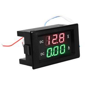 デジタル電流計電圧計 変流器付き 電流電圧メータ LEDディスプレイ DC5-100V 50A 黒 TE525 XCSOURCE|halhal