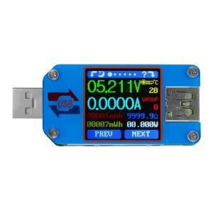 UM25 USB電圧電流テスター USB2.0 タイプC カラーLCDパワーテスタ バッテリ 電圧計 電流計 インピーダンス測定 容量テスター TE932 XCSOURCE|halhal
