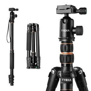 Tycka カメラ三脚 旅行用三脚 4段 アルミ製 収納サイズ36cm 軽量&コンパクト&安定性 Canon Nikon Petax Sonyなど用
