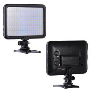 LEDビデオライト 2200mAh大容量バッテリー付き 超薄型204球 撮影定常光ライト 3200K-5600K 1300lmステラレス調光可能  TK204 TYCKA|halhal