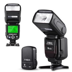 カメラ ストロボ フラッシュライト  スピードライト 2.4Gワイヤレストリガーリモート LCDディスプレイ ホットシュー付 DSLRカメラ対応 TK205 TYCKA|halhal