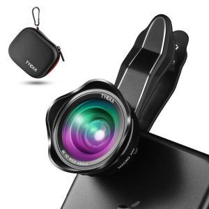 2in1 スマホ用カメラレンズ 自撮りレンズ 超広角レンズ+15Xマクロレンズ クリップ式  スマートフォン/タブレット対応 TK304 TYCKA|halhal