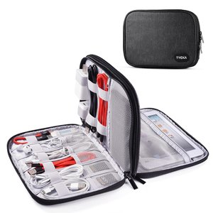 9.8インチ2層式 PC周辺小物収納ポッチ 軽量 大容量 iPad mini Kindle USB SDカード等収納可能 TK306 TYCKA|halhal