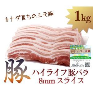 生 ハイライフ 豚バラ8mmスライス(カナダ産) サムギョプサル|halla-mart