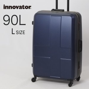 スーツケース 大型 卒業旅行 ホームステイ ハードタイプ キャリーケース キャリーバッグ イノベーター innovator 1週間泊 Lサイズ INV68 90L メーカー直送