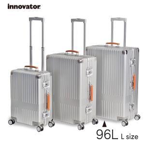 イノベーター スーツケース innovator inv7811 96L Lサイズ 大容量 長期滞在 ホームステイ アルミキャリーケース  北欧 トラベル 送料無料 2年間保証|haloaboxart