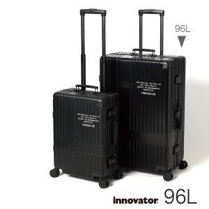 イノベーター スーツケース innovator inv7811LA レーザー 96L Lサイズ 大容量 長期滞在 ホームステイ アルミキャリーケース  北欧 トラベル 送料無料 2年間保証|haloaboxart