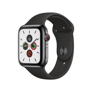 Apple Watch Series 5 GPS+Cellularモデル 44mm MWWK2J/A [スペースブラックステンレススチールケース/ブラックスポーツバンド]