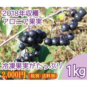 【2018年度収穫 】 北海道産アロニア果実(冷凍)  1kg