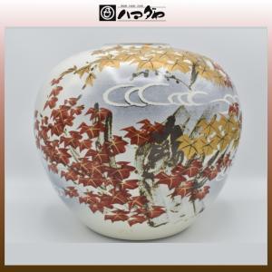 九谷焼 花瓶 10号 紅葉 展示品限り item no.1f001|hamadaya-shokki