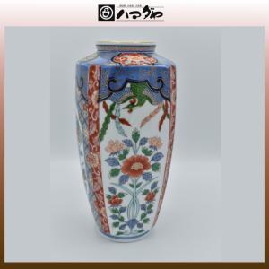 有田焼 角花瓶 鳳凰草花 item no.1f007|hamadaya-shokki
