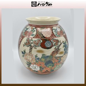 九谷焼 花瓶 8号 庄三 木箱入り item no.1f013|hamadaya-shokki