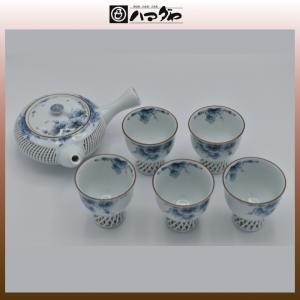 有田焼 茶器セット 網目ぶどう 急須茶器揃 5組セット 現品限り item no.1f023|hamadaya-shokki