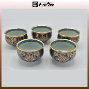 有田焼 湯呑セット 金彩華紋様 汲出し揃 5組セット 現品限り item no.1f028|hamadaya-shokki