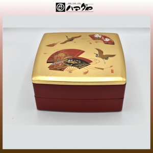 山中塗 重箱 宝扇 胴張 オードブル(中子付) 現品限り item no.1f045|hamadaya-shokki