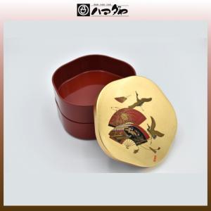 山中塗 重箱 宝扇 梅型 三段重  現品限り item no.1f049|hamadaya-shokki