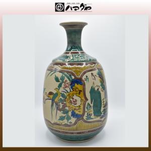 九谷焼 花瓶 12号 古九谷割花 item no.1f061|hamadaya-shokki