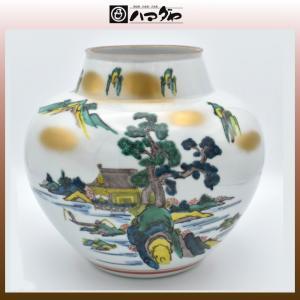 九谷焼 花瓶 8号 山水 item no.1f063|hamadaya-shokki
