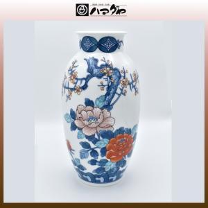 有田焼 花瓶 鍋島梅牡丹花瓶 item no.1f070|hamadaya-shokki