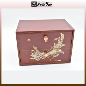 春慶塗 引出し 華むすび溜春慶二つ引出し item no.1f093|hamadaya-shokki