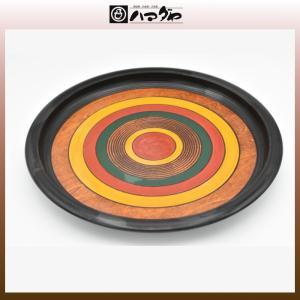 独楽塗 盆 樹林型丸盆 木製 item no.1f097|hamadaya-shokki