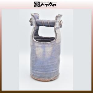 萩焼 花瓶 粉引紫手桶花入 item no.1f137|hamadaya-shokki