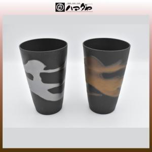 美濃焼 カップ 金銀流し 泡立ちカップ ペア 木箱入り item no.1f161|hamadaya-shokki