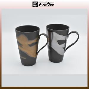 美濃焼 カップ 金銀流し ジョッキー ペア item no.1f162|hamadaya-shokki