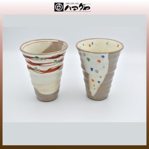 美濃焼 カップ かるーい色絵焼酎カップ ペア item no.1f174|hamadaya-shokki